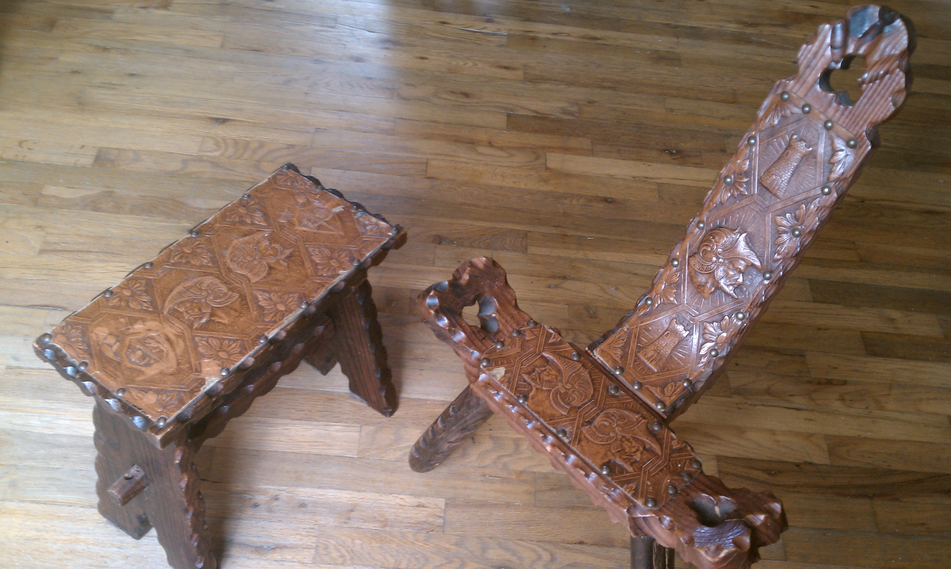 Antique birthing chair - My Antique Birthing Stool